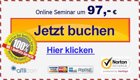 Online Seminar um 97,- jetzt buchen